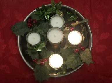Hope candle lit